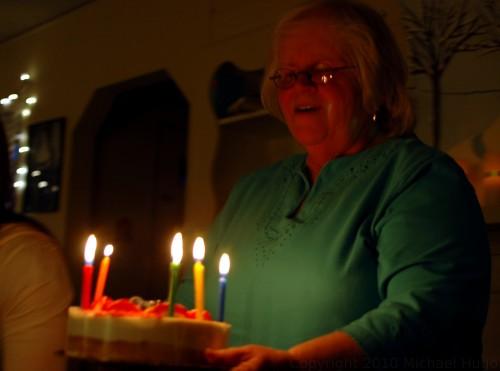 Eileen singing Happy Birthday